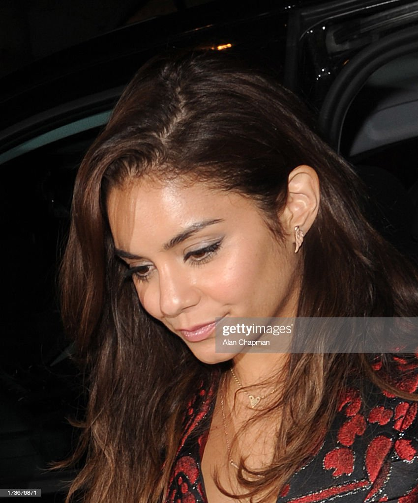 Vanessa Hudgens sighting returning to her hotel on July 16, 2013 in London, England.
