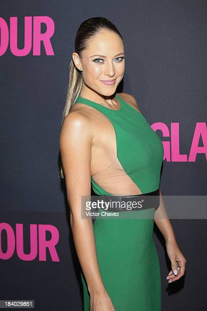 Vanessa Huppenkothen attends the Glamour Magazine 15th Anniversary at Casino Del Bosque on October 10 2013 in Mexico City Mexico