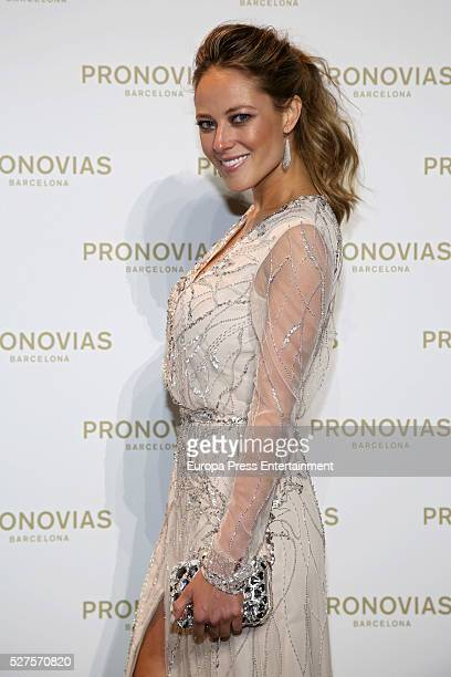 Vanessa Huppenkothen poses during Pronovias bridal collection during the 'Barcelona Bridal Fashion Week 2016' at Italian Pavilion of Fira Barcelona...