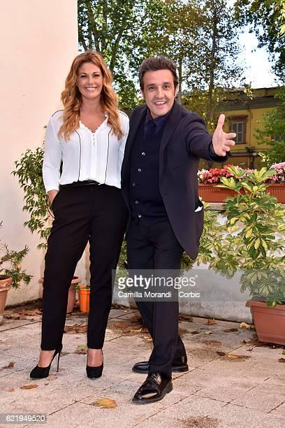 Vanessa Incontrada and Flavio Insinna attend a photocall for the Tv show 'La classe degli asini' on November 9 2016 in Rome Italy