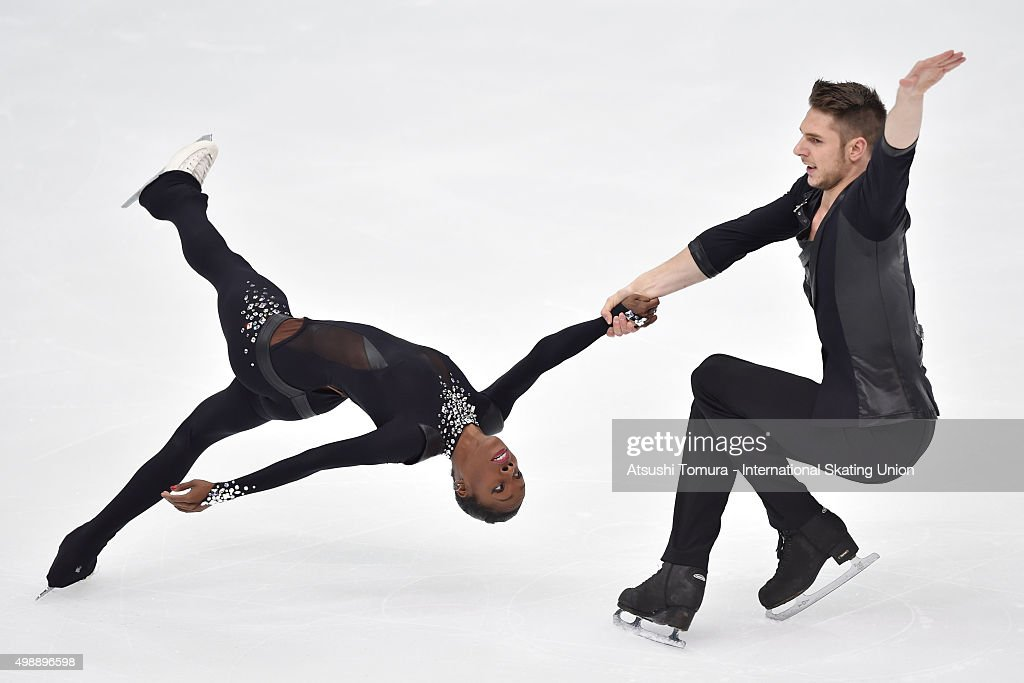 <a gi-track='captionPersonalityLinkClicked' href=/galleries/search?phrase=Vanessa+James&family=editorial&specificpeople=4113198 ng-click='$event.stopPropagation()'>Vanessa James</a> and Morgan Cipres of France compete in the pairs short program during the day one of the NHK Trophy ISU Grand Prix of Figure Skating 2015 at the Big Hat on November 27, 2015 in Nagano, Japan.