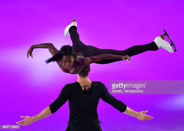 TOPSHOT Vanessa James and Morgan Cipres of France perform during the Gala show at the end of the ISU World Figure Skating Championships 2017 in...