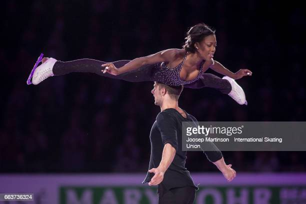 Vanessa James and Morgan Cipres of France perform in the gala exhibition during day five of the World Figure Skating Championships at Hartwall Arena...