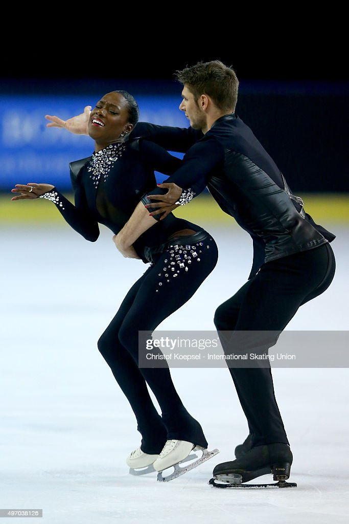 <a gi-track='captionPersonalityLinkClicked' href=/galleries/search?phrase=Vanessa+James&family=editorial&specificpeople=4113198 ng-click='$event.stopPropagation()'>Vanessa James</a> and Morgan Cipres of France skate during the pairs short program of the ISU Grand Prix at Meriadeck Ice Rink on November 13, 2015 in Bordeaux, France.