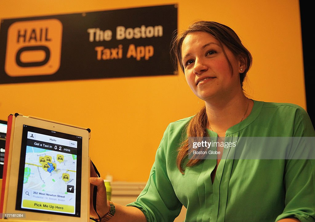 Vanessa Kafka, the Boston area general manager of Hailo, an e-hailing smartphone app that enables passengers to connect more easily with cab drivers, Tuesday, Aug. 13, 2013.