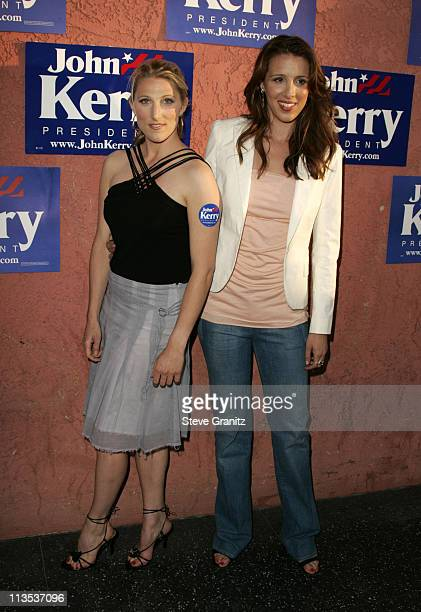 Vanessa Kerry and Alexandra Kerry during Hollywood Gathers To Celebrate Presidential Candidate John Kerry at The Music Box Henry Fonda Theater in...