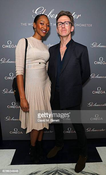 Vanessa Kingori and Tom Stubbs attend OMEGA Constellation Globemaster dinner at Marcus on December 8 2016 in London England