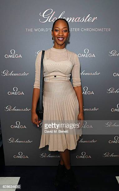 Vanessa Kingori attends OMEGA Constellation Globemaster dinner at Marcus on December 8 2016 in London England