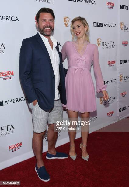 Vanessa Kirby and director Benjamin Caron attend the BAFTA Los Angeles TV Tea Party party at the Beverly Hilton hotel in Beverly Hills on September...