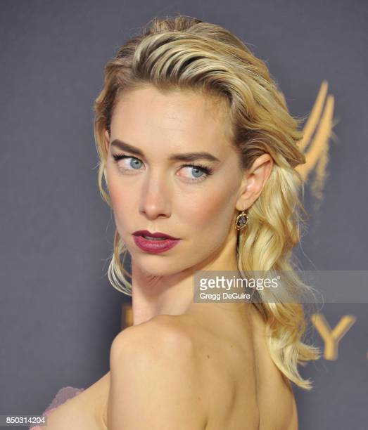 Vanessa Kirby arrives at the 69th Annual Primetime Emmy Awards at Microsoft Theater on September 17 2017 in Los Angeles California