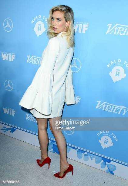 Vanessa Kirby arrives at the Variety And Women In Film's 2017 PreEmmy Celebration at Gracias Madre on September 15 2017 in West Hollywood California