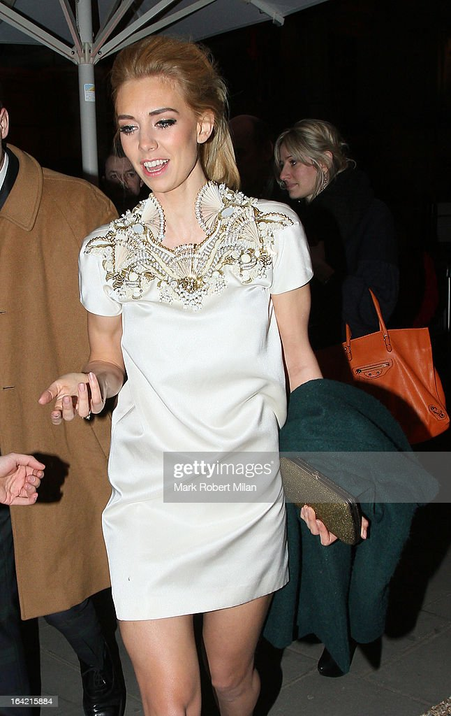 Vanessa Kirby at the private view of 'David Bowie Is' at Victoria & Albert Museum on March 20, 2013 in London, England.