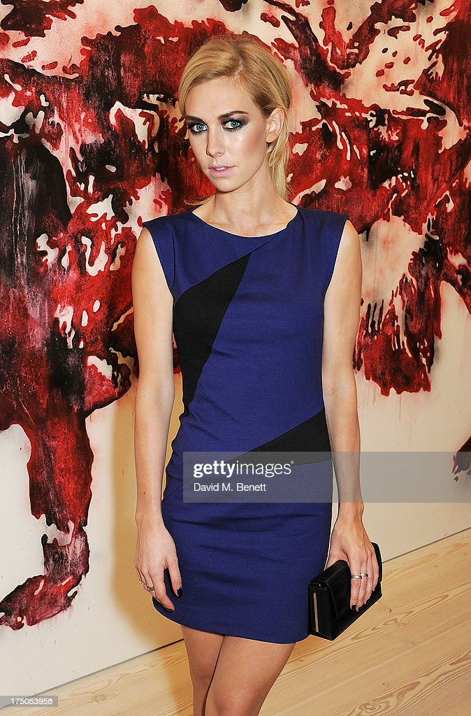 <a gi-track='captionPersonalityLinkClicked' href=/galleries/search?phrase=Vanessa+Kirby&family=editorial&specificpeople=8282131 ng-click='$event.stopPropagation()'>Vanessa Kirby</a> attends a private view of 'HUGO: Red Never Follows', celebrating 20 years of Hugo Boss, at the Saatchi Gallery on July 30, 2013 in London, England.