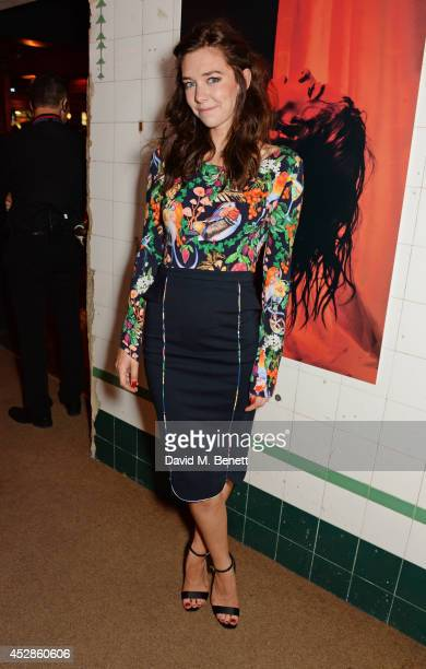 Vanessa Kirby attends an after party following the press night performance of 'A Streetcar Named Desire' at The Young Vic on July 28 2014 in London...