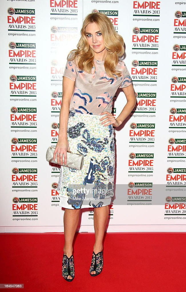 Vanessa Kirby attends the 18th Jameson Empire Film Awards at Grosvenor House, on March 24, 2013 in London, England.