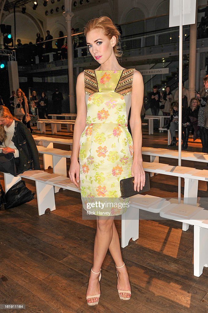 Vanessa Kirby attends the Matthew Williamson show during London Fashion Week Fall/Winter 2013/14 on February 17, 2013 in London, England.