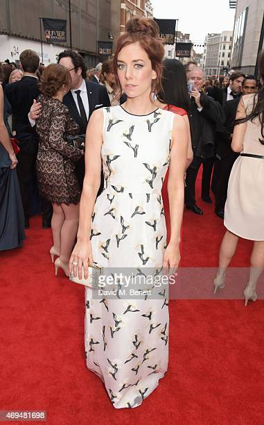 Vanessa Kirby attends The Olivier Awards at The Royal Opera House on April 12 2015 in London England