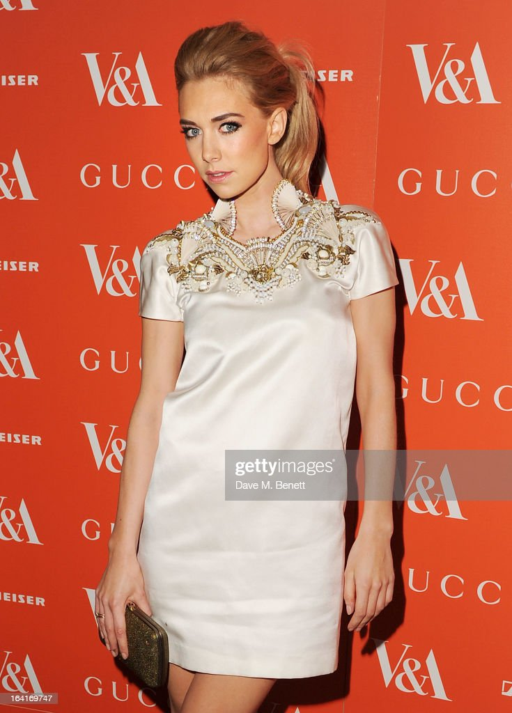 Vanessa Kirby attends the private view for the 'David Bowie Is' exhibition in partnership with Gucci and Sennheiser at the Victoria and Albert Museum on March 20, 2013 in London, England.