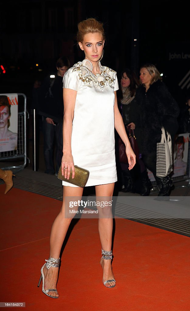 Vanessa Kirby attends the private view of 'David Bowie Is' at Victoria & Albert Museum on March 20, 2013 in London, England.