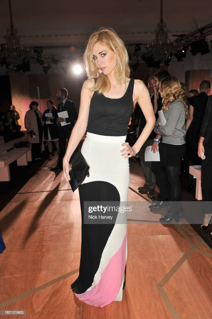 Vanessa Kirby attends the Roksanda Ilincic show during London Fashion Week Fall/Winter 2013/14 at on February 19, 2013 in London, England.