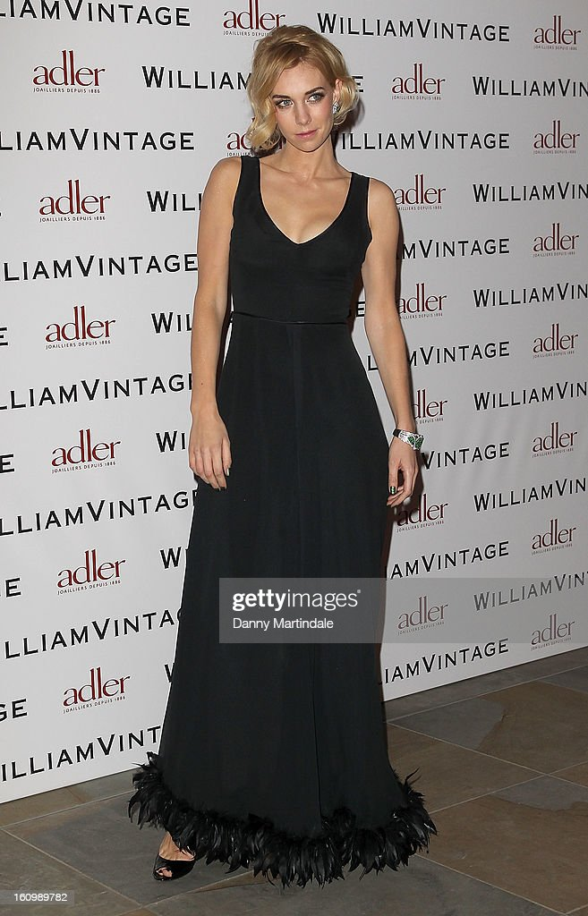 Vanessa Kirby attends the WilliamVintage Dinner Sponsored By Adler at St Pancras Renaissance Hotel on February 8, 2013 in London, England.