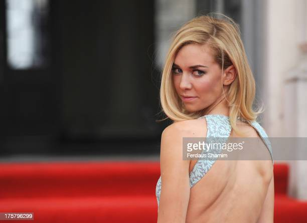 Vanessa Kirby attends the World Premiere of 'About Time' at Somerset House on August 8 2013 in London England