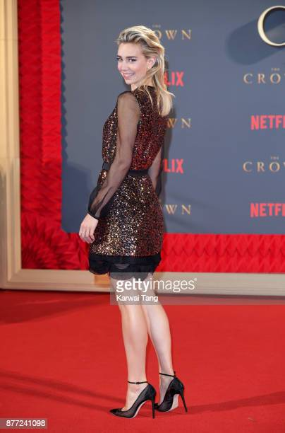 Vanessa Kirby attends the World Premiere of Netflix's 'The Crown' Season 2 at Odeon Leicester Square on November 21 2017 in London England