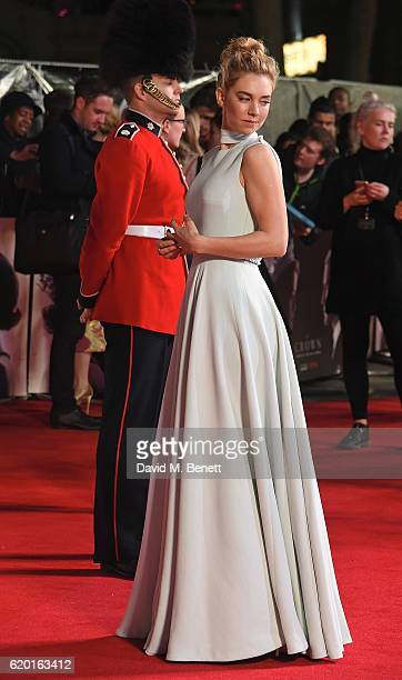 Vanessa Kirby attends the World Premiere of new Netflix Original series 'The Crown' at Odeon Leicester Square on November 1 2016 in London England
