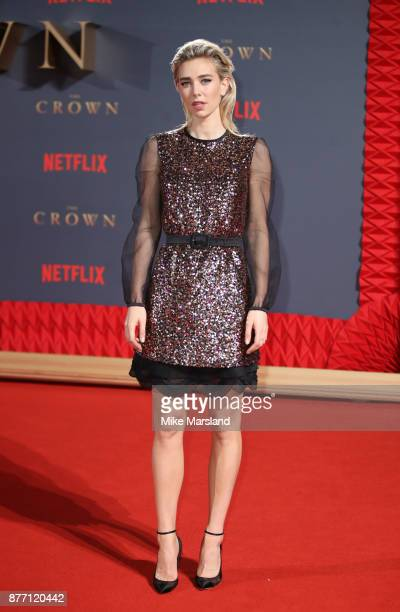 Vanessa Kirby attends the World Premiere of season 2 of Netflix 'The Crown' at Odeon Leicester Square on November 21 2017 in London England