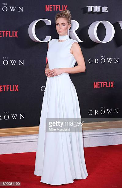 Vanessa Kirby attends the world premiere of 'The Crown' at Odeon Leicester Square on November 1 2016 in London England