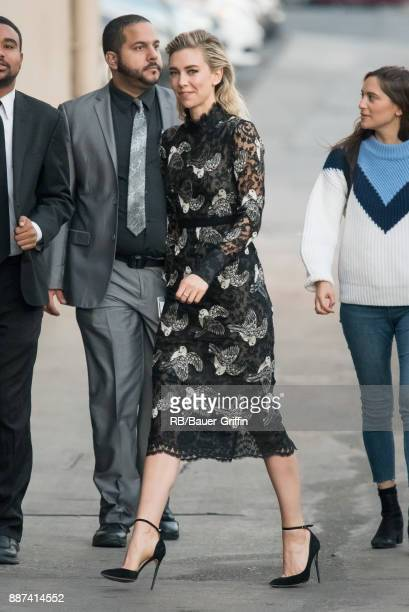 Vanessa Kirby is seen at 'Jimmy Kimmel Live' on December 06 2017 in Los Angeles California