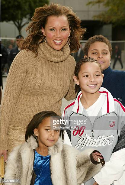 Vanessa L Williams and family during NBA AllStar Game Arrivals at Staples Center in Los Angeles California United States