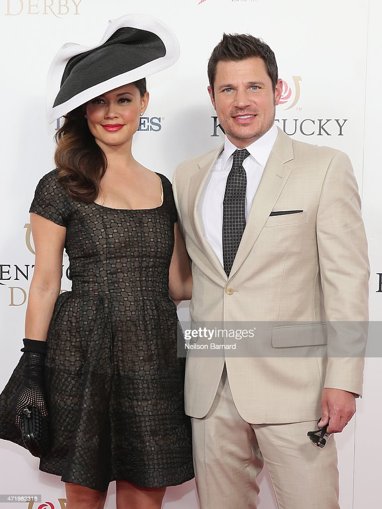 Vanessa Lachey (L) and Nick Lachey attend the 141st Kentucky Derby at Churchill Downs on May 2, 2015 in Louisville, Kentucky.