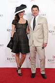 Vanessa Lachey and Nick Lachey attend the 141st Kentucky Derby at Churchill Downs on May 2 2015 in Louisville Kentucky