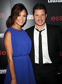 Vanessa Lachey and Nick Lachey attend the Entertainment Weekly SAG Awards preparty at Chateau Marmont on January 17 2014 in Los Angeles California