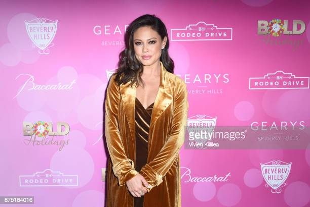 Vanessa Lachey attends The Annual Rodeo Drive Holiday Lighting Celebration on November 16 2017 in Beverly Hills California