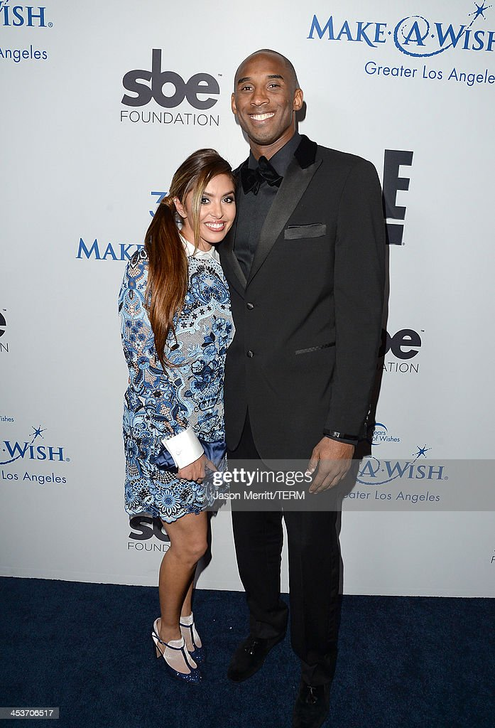 Vanessa Laine and Kobe Bryant attend the MakeAWish Greater Los Angeles 30th Anniversary Gala on December 4 2013 in Los Angeles California