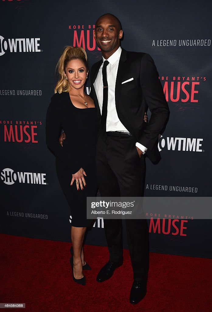Vanessa Laine Bryant and NBA player Kobe Bryant attend the premiere of Showtime's 'Kobe Bryant's Muse' at The London Hotel on February 26 2015 in...