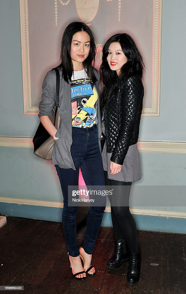 Vanessa Lee and Angela Lee attend the Juicy Couture Fall 2013 party at Home House on May 30, 2013 in London, England.