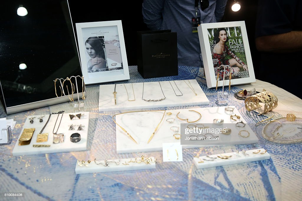 Vanessa Lianne Jewelry display is seen at the gifting suite during the 2016 MusiCares Person Of The Year honoring Lionel Richie at Los Angeles Convention Center on February 13, 2016 in Los Angeles City.