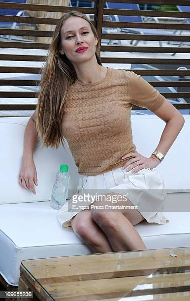 Vanessa Lorenzo attends a promotional event to present Johnson's Baby with Aloe Vera on May 29 2013 in Madrid Spain