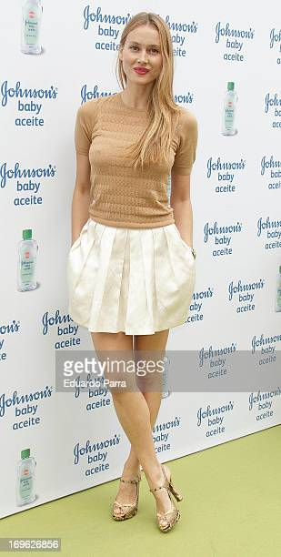 Vanessa Lorenzo attends Johnson's Baby with Aloe Vera press photocall at Eurobuilding hotel on May 29 2013 in Madrid Spain