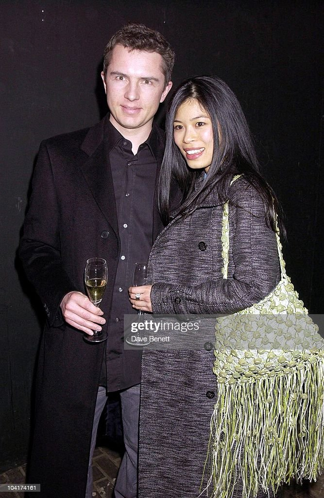 Vanessa Mae And Boyfriend, Julien Macdonald Fashion Show At The Roundhouse In Camden, London, London Fashion Week 2003