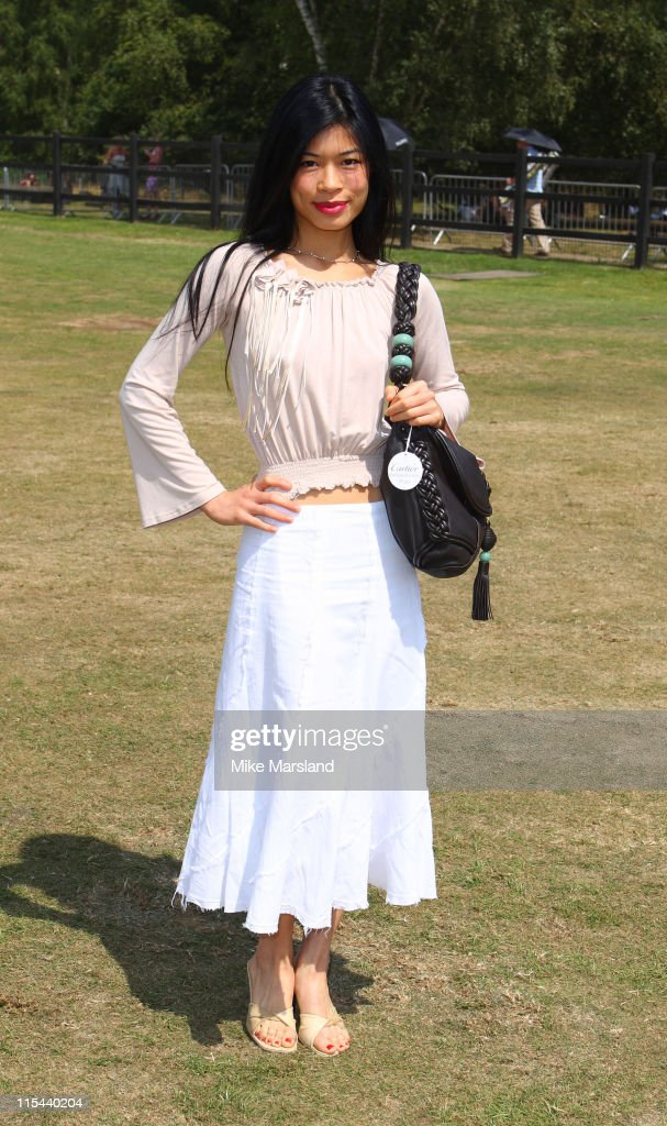 <a gi-track='captionPersonalityLinkClicked' href=/galleries/search?phrase=Vanessa+Mae&family=editorial&specificpeople=212716 ng-click='$event.stopPropagation()'>Vanessa Mae</a> attends the Cartier International Polo Match at Guards Polo Club on July 27, 2008 in Windsor, England.