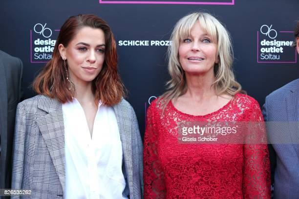 Vanessa Mai and Bo Derek during the late night shopping at Designer Outlet Soltau on August 4 2017 in Soltau Germany