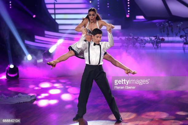 Vanessa Mai and Christian Polanc perform on stage during the 10th show of the tenth season of the television competition 'Let's Dance' on May 26 2017...