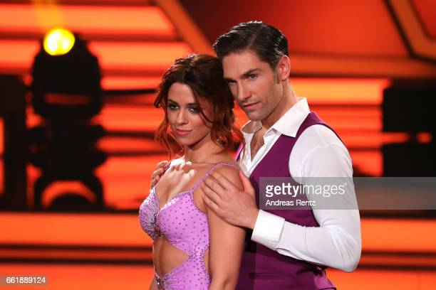 Vanessa Mai and Christian Polanc perform on stage during the 3rd show of the tenth season of the television competition 'Let's Dance' on March 31...
