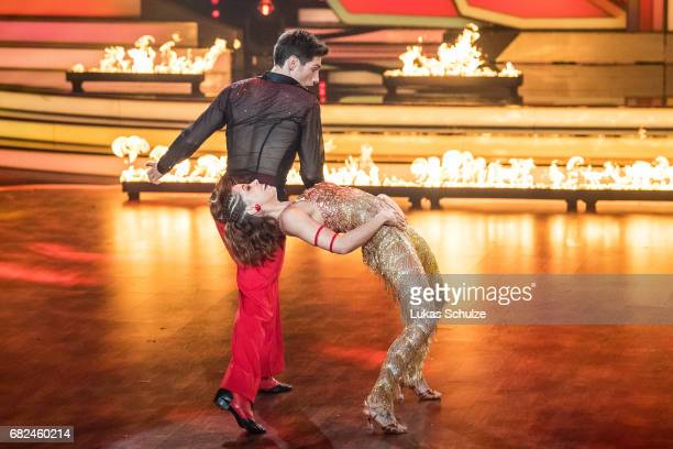 Vanessa Mai and Christian Polanc perform on stage during the 8th show of the tenth season of the television competition 'Let's Dance' on May 12 2017...