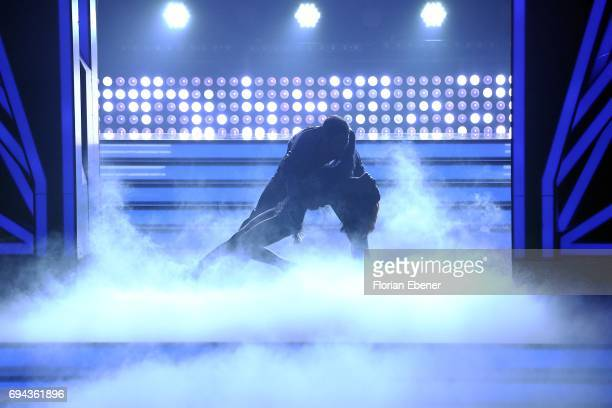 Vanessa Mai and Christian Polanc perform on stage during the final show of the tenth season of the television competition 'Let's Dance' on June 9...