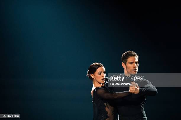 Vanessa Mai and Christian Polanc perform on stage during the semi final of the tenth season of the television competition 'Let's Dance' on June 2...